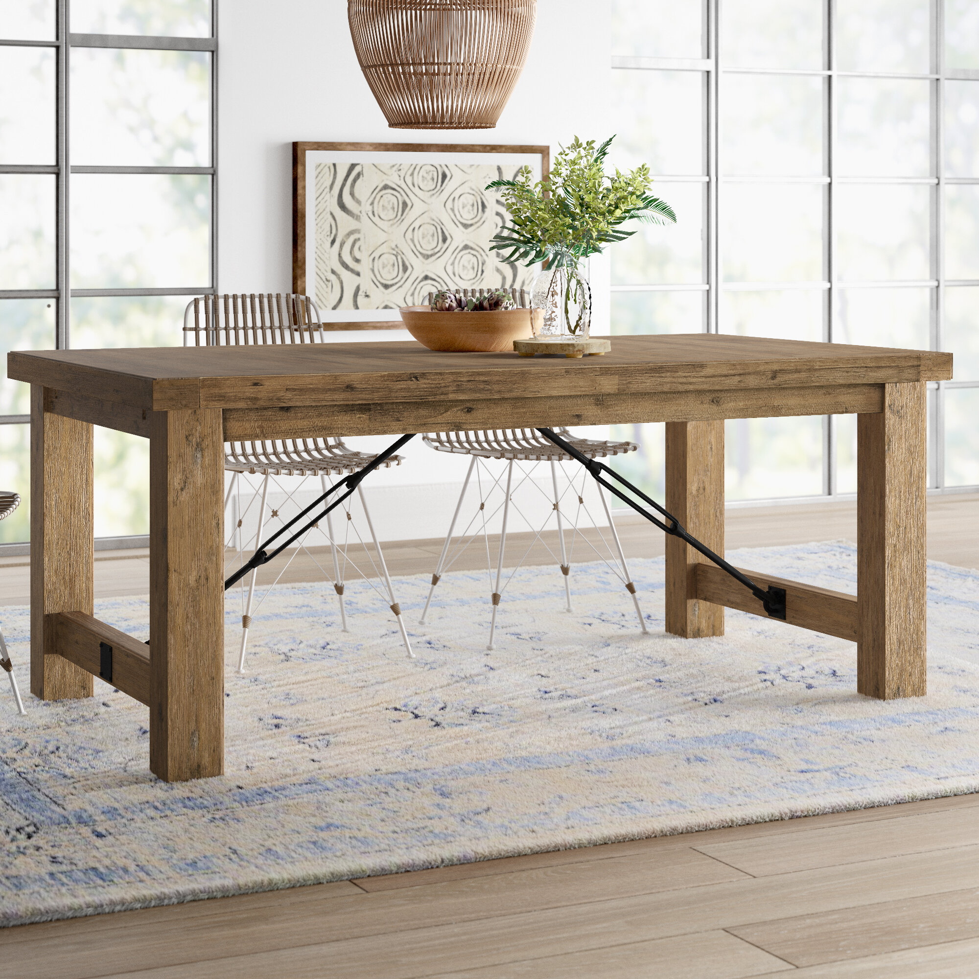Mistana dulce extendable solid wood dining table reviews wayfair