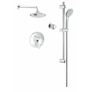 Grohe Cosmopolitan Dual Shower Head Complete Shower System