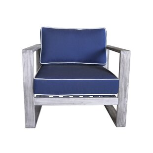 Asther Modern Outdoor Club Chair with Cushions by Longshore Tides