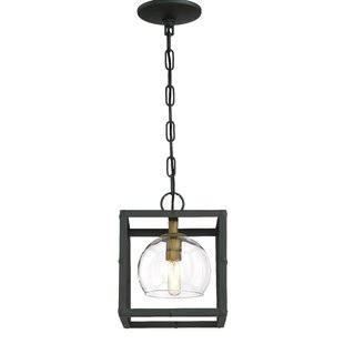 Joanna 1-Light Square/Rectangle Pendant by Brayden Studio