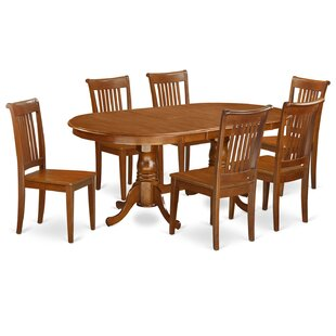 Germantown 7 Piece Extendable Solid Wood Dining Set DarHome Co