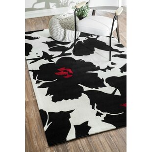 Reviews Joni Hand-Tufted Black/White Area Rug By Latitude Run