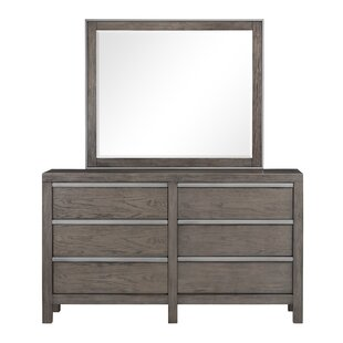 Standard Furniture Melbourne 6 Drawer Double Dresser with Mirror