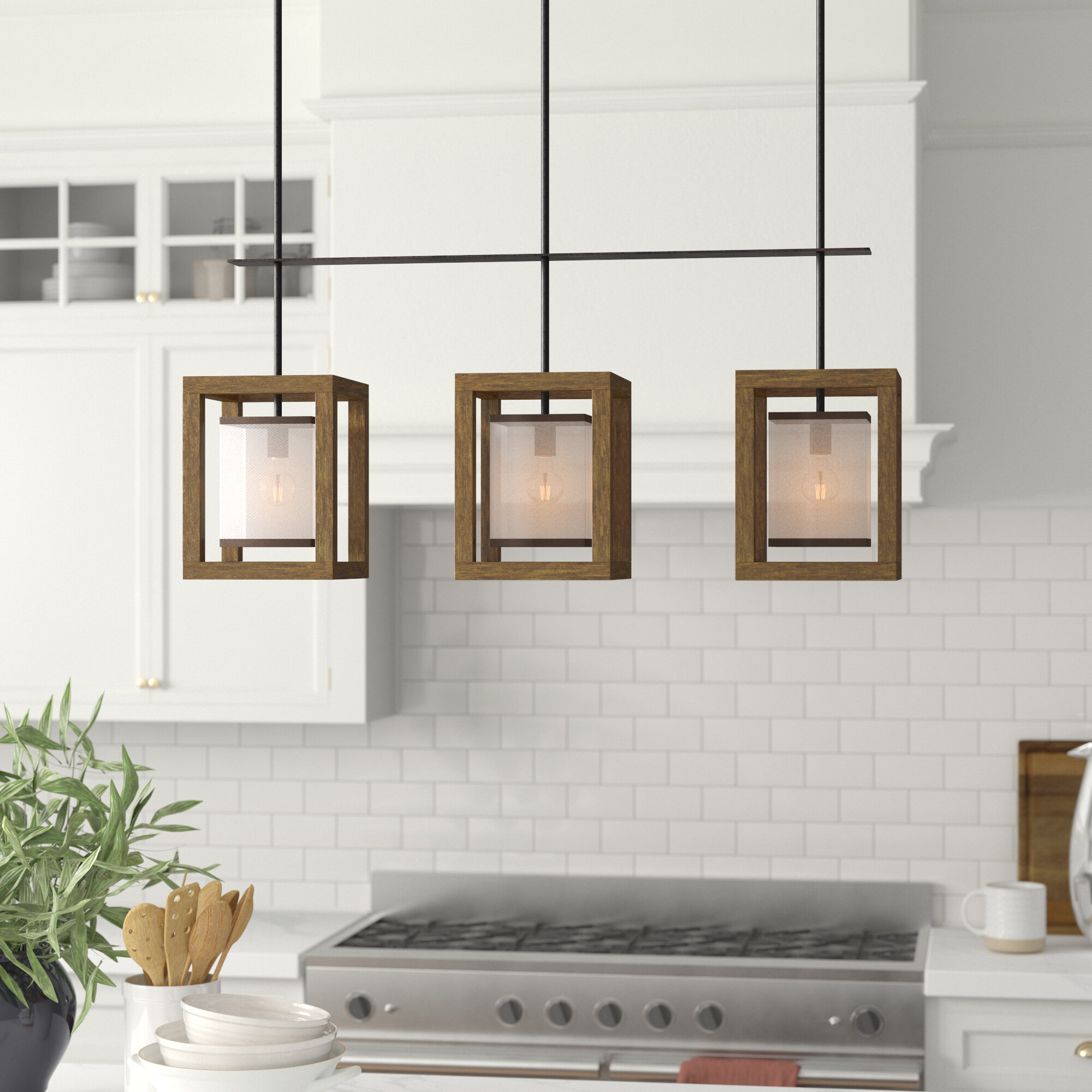 Aadhya 3-Light Kitchen Island Linear Pendant