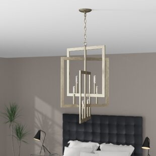 Best Reviews Tufts 6-Light Square/Rectangle Chandelier By Wade Logan
