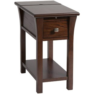 Compare Amboyer Chairside Table in Cherry by Darby Home Co