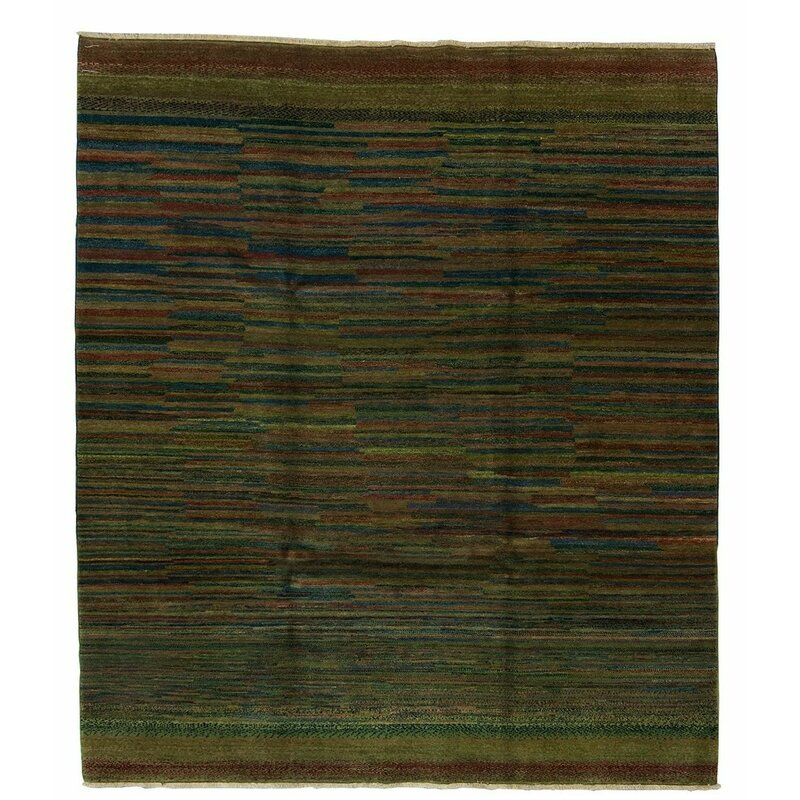Tufenkian One Of A Kind Zolli Hand Knotted Modern Contemporary Dark Green 8 X 10 Wool Area Rug Perigold