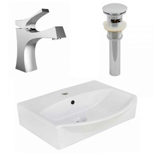 Price comparison Ceramic 19.5 Bathroom Sink with Faucet and Overflow ByRoyal Purple Bath Kitchen