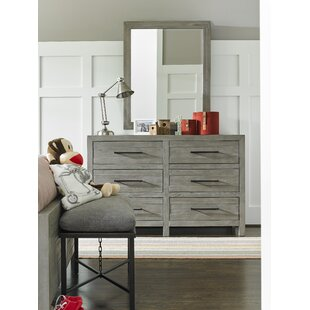 Goshen 6 Drawer Double Dresser With Mirror