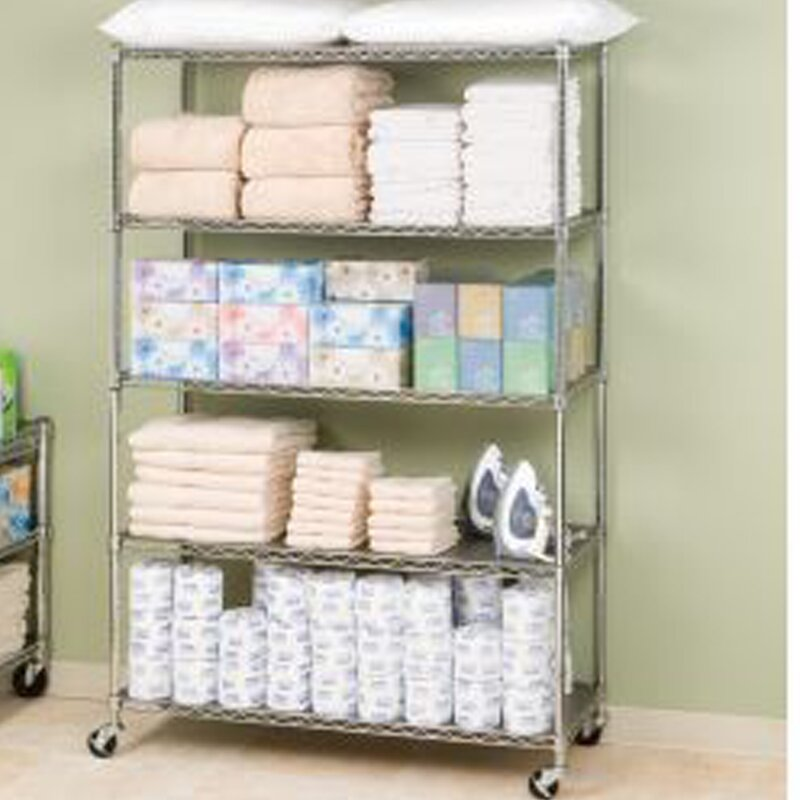 default_name - Seville Classics UltraZinc 5-Tier NSF Steel Wire Shelving /w