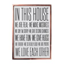 """""""In this House"""" Framed Textual Art"""