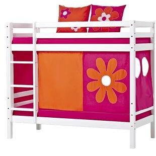 Basic Flower Power High Sleeper Bed With Curtain By Hoppekids