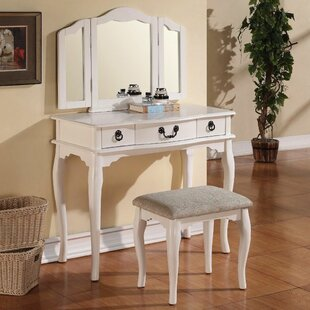 Read Reviews Esther Vanity Set with Mirror ByInfini Furnishings