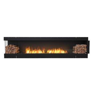 FLEX122 Left Corner Wall Mounted Bio-Ethanol Fireplace Insert by EcoSmart Fire
