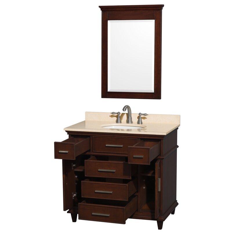 """Bathroom Fixtures Berkeley wyndham collection berkeley 36"""" single dark chestnut bathroom"""