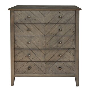 Kidsgrove Reclaimed Pine 5 Drawer Dresser