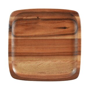 Kona Wood 12  Square Plate (Set of 4)  sc 1 st  Wayfair & Wood Plates u0026 Saucers Youu0027ll Love | Wayfair