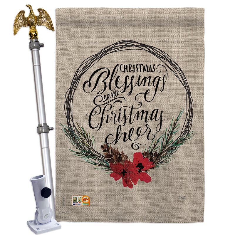 Breeze Decor Christmas Blessings 2 Sided Polyester 40 X 28 In Flag Set Wayfair