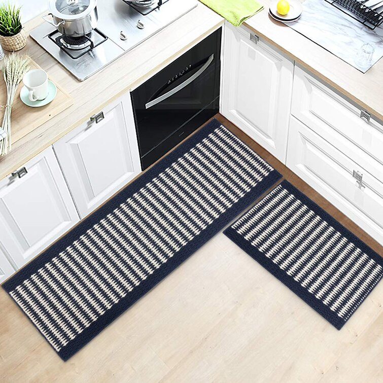 Foundry Select Kitchen Rug Sets 2 Pieces Super Absorbent Non Slip Machine Washable Kitchen Rugs Mat Made Of 100 Polypropylene Wayfair