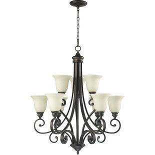 Cambron Transitional 9-Light Shaded Chandelier by Winston Porter
