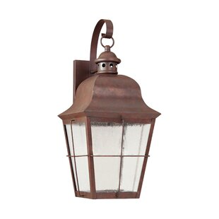 Affordable Chancellroy 1-Light Outdoor Wall Lantern By Loon Peak