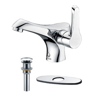 Nezza Falcon Bathroom Faucet, Pop-up Drain without Overflow and Deck Plate