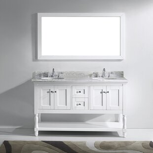 Check Prices Cicely 59 Double Bathroom Vanity Set with Mirror By Gracie Oaks