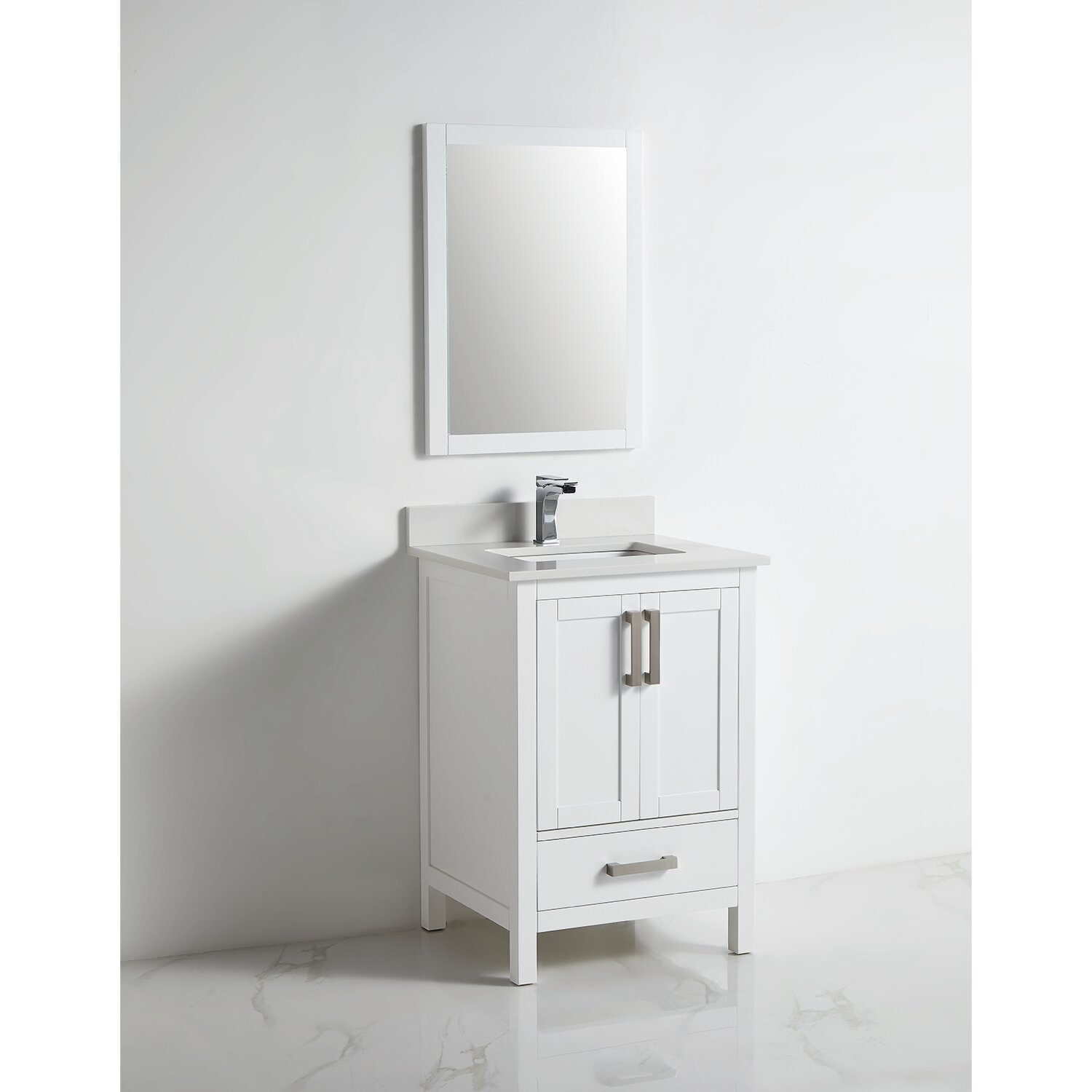 Latitude Run Broden 24 Single Bathroom Vanity Set With Mirror Wayfair
