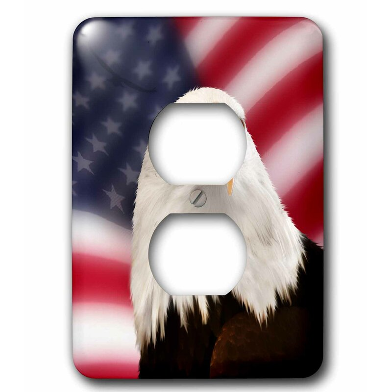 3drose Patriotic American Flag And Bald Eagle 1 Gang Duplex Outlet Wall Plate Wayfair