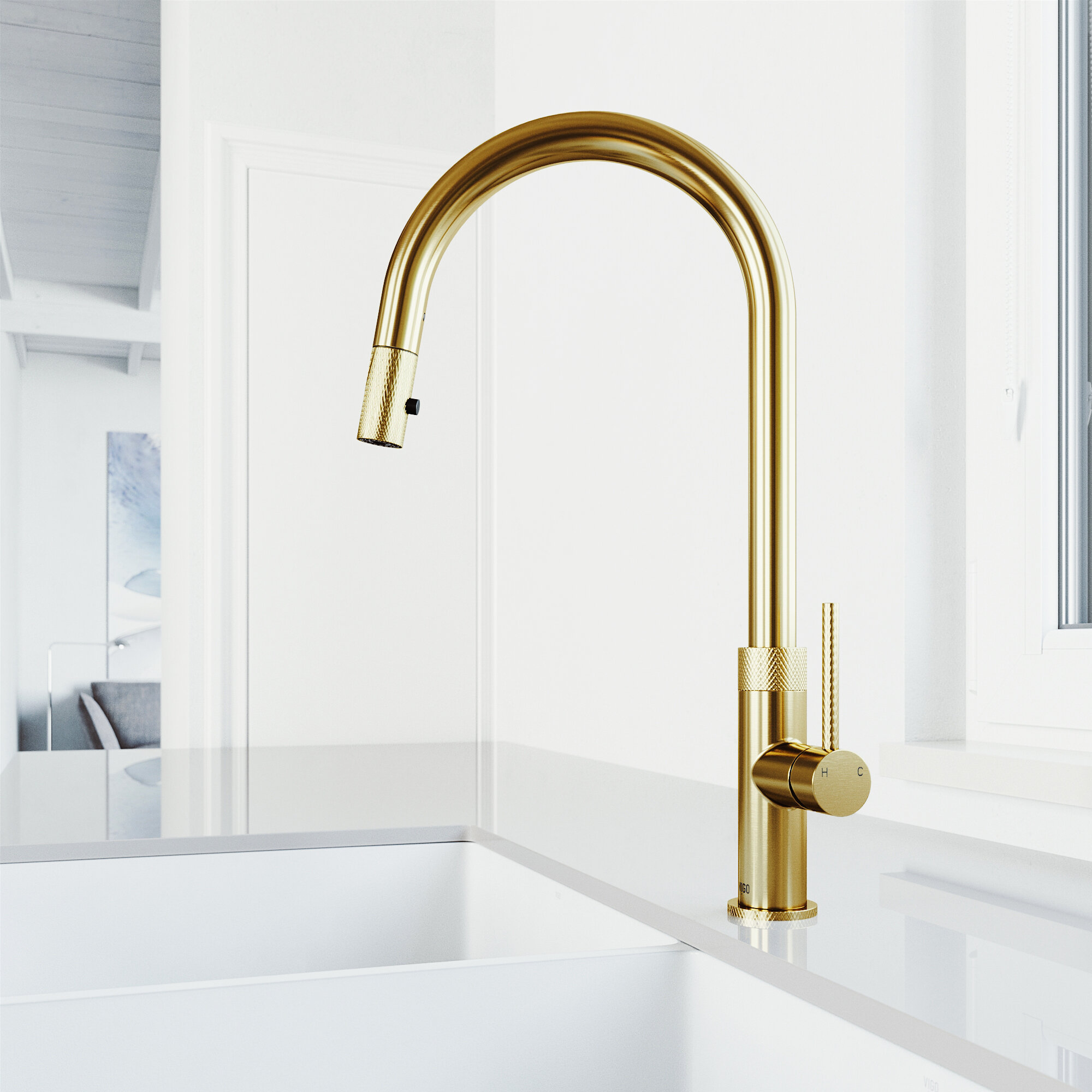 Bristol Pull Down Touch Single Handle Kitchen Faucet