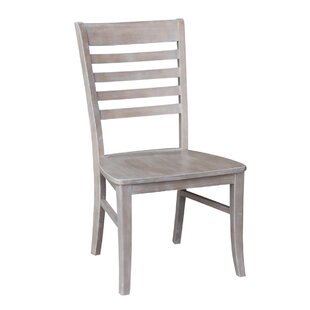 Dorsey Gray Solid Wood Dining Chair (Set of 2) Gracie Oaks