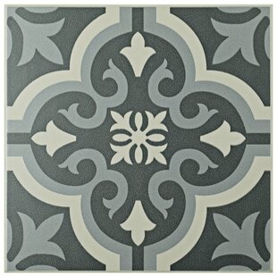 Lima 7 75 X Ceramic Field Tile In Charcoal Gray White