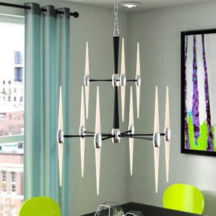 Orren Ellis Francesca 9-Light LED Chandelier