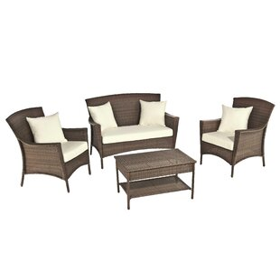 Odessa 4 Piece Sofa Set with Cushions