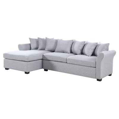 Aeryn Sectional Upholstery: Gray by Beachcrest Home