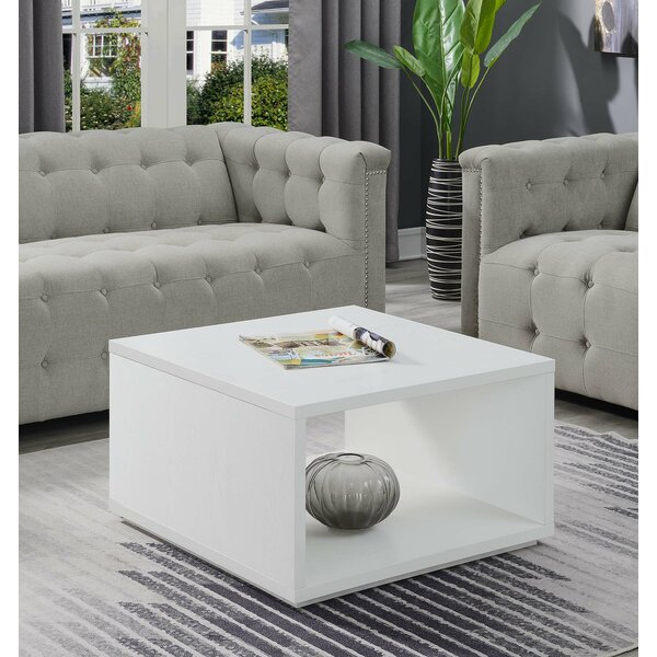 Wrought Studio Haught Floor Shelf Coffee Table With Storage Reviews Wayfair