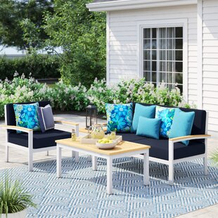 Caspian 4 Piece Sofa Set With Cushions by Sol 72 Outdoor 2019 Online