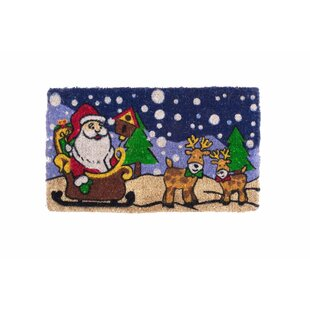 Santa Claus Is Coming to Town Design Door mat by Coco Mats N More