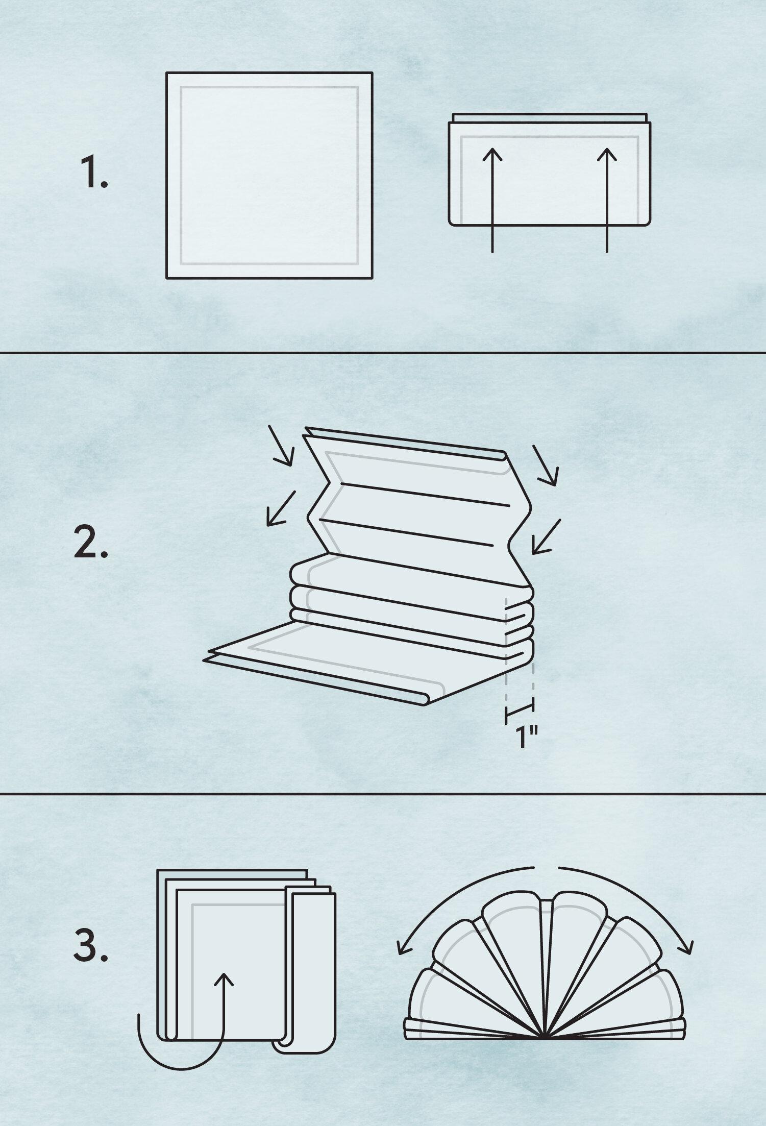 Etiquette Training Basic Napkin Folding Methods Wayfair
