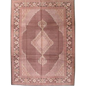 One-of-a-Kind Tabriz Fish Hand-Knotted Wool Pink Area Rug