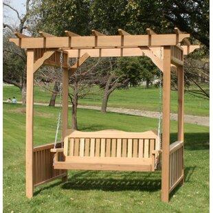 Loon Peak Thayer Cedar Arbor Swing Set
