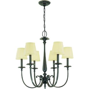 Darby Home Co Calvert 6-Light Shaded Chandelier
