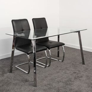 Kezar Dining Set With 2 Chairs By Metro Lane