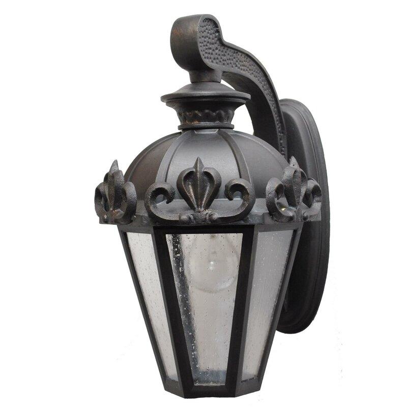 Alcott Hill Petrey 1 Bulb Outdoor Wall Lantern Wayfair