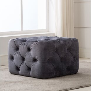 Bridges Square Tufted Cube Ottoman
