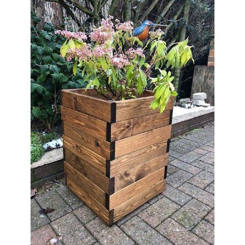 Latimer Wooden Planter Box Freeport Park