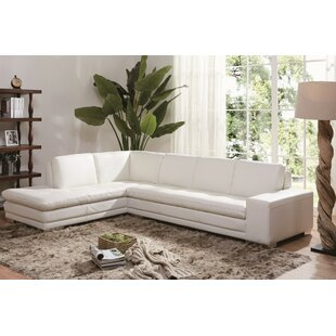 Brigman Leather Sectional by Orren Ellis 2019 Sale