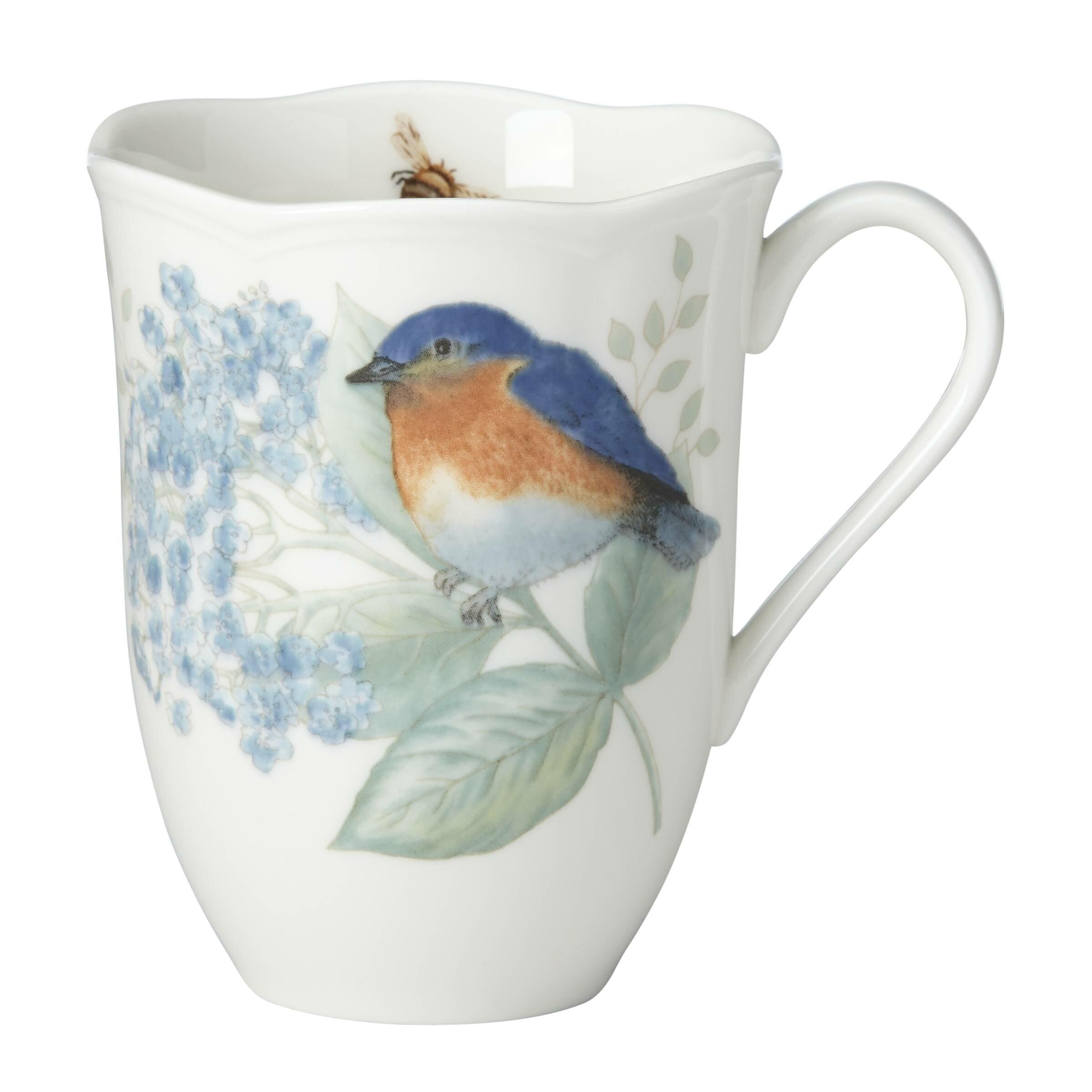 Lenox Butterfly Meadow Flutter Eastern Blue Bird Coffee Mug | Wayfair