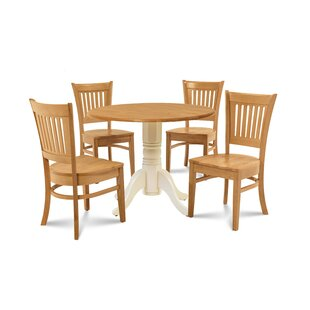 Humphrey 5 Piece Drop Leaf Solid Wood Dining Set by Millwood Pines