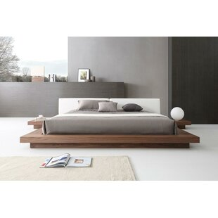 Noblitt Faux Leather Upholstered Platform Bed